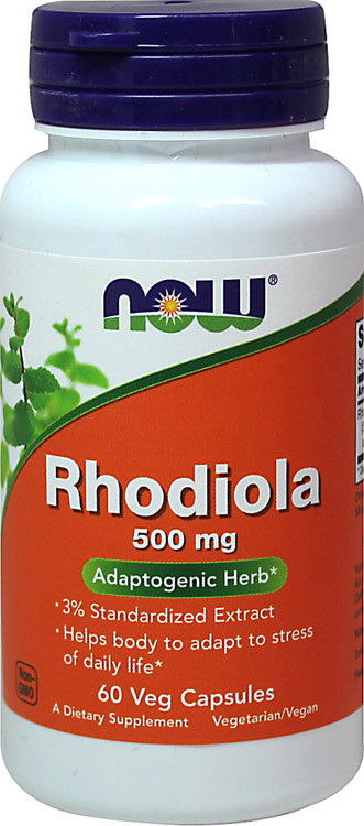 Rhodiola 500 mg 60 Veg Capsules - NOW Foods
