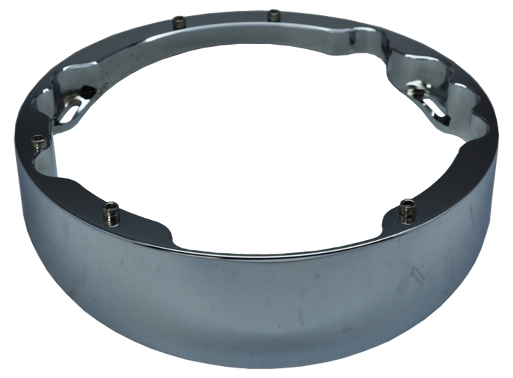 Raked Headlight Bezel Chrome Plated
