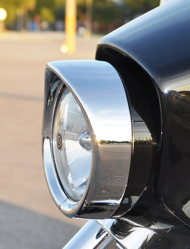 Raked Headlight Bezel Black Plated