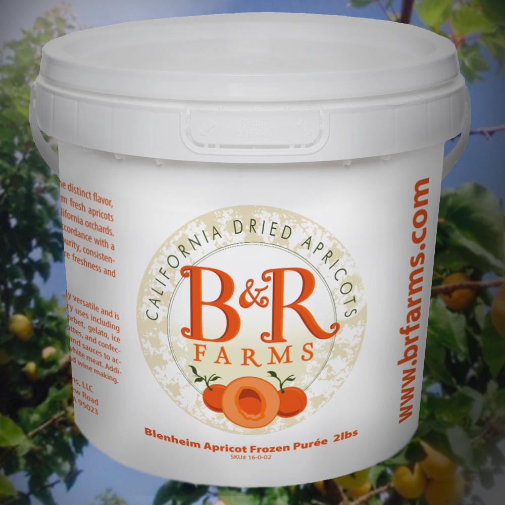 Apricot Frozen Puree 2 Lb Pail