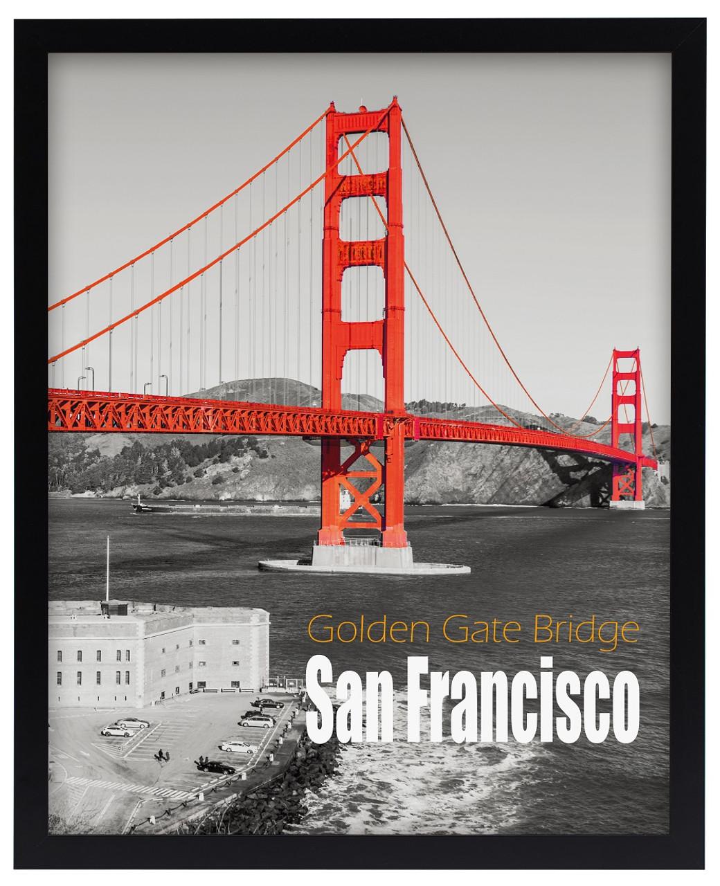 16x20 Pre-Assembled Black Poster Frame - Golden Gate Bridge Gallery ...