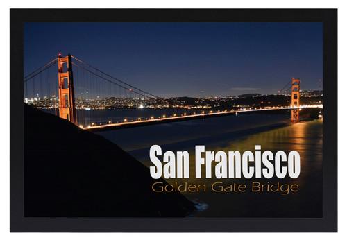18x24 Poster Frame, Pre-Assembled Black Wood Composite, Golden Gate ...