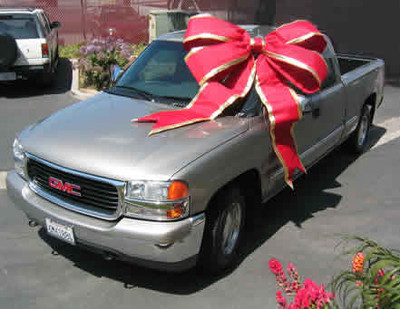 """Giant Car Bows - 48"""" red bows"""