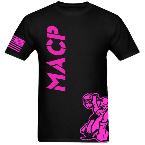 Black and Pink MACP Fight Shirt