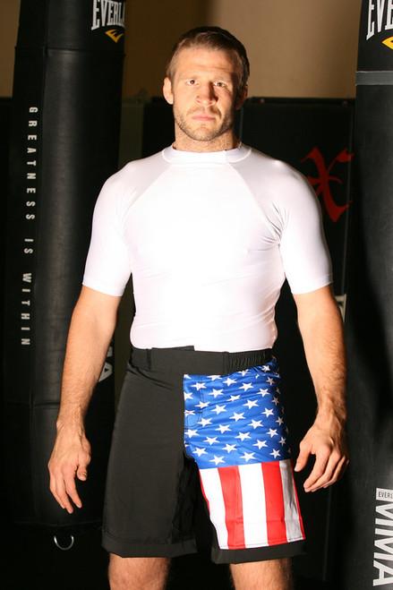 America Flag MMA Shorts