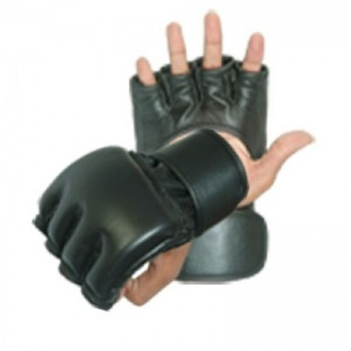 Plain Black MMA Gloves