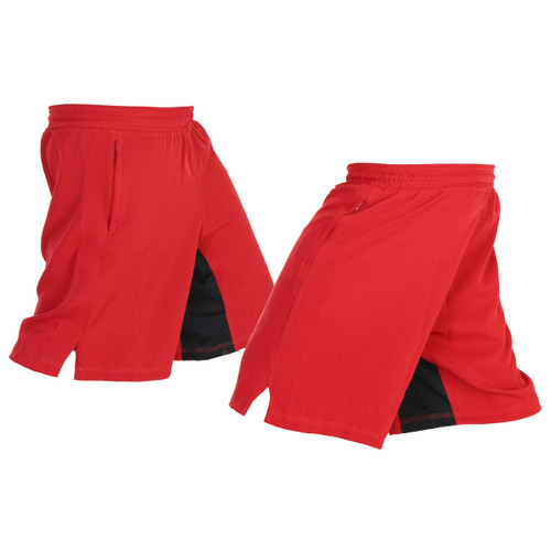 Red Athletic Shorts designed for Crossfit