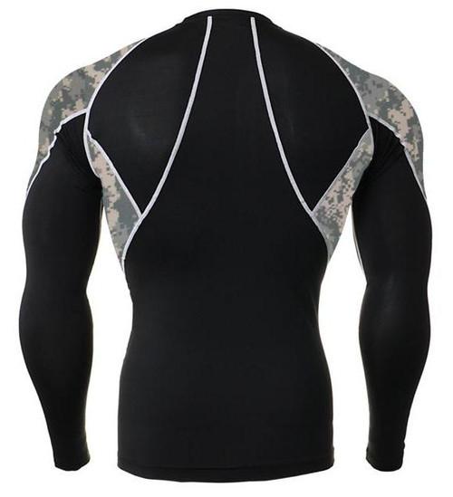 Long Sleeve Rash Guard ACU with Side Panel