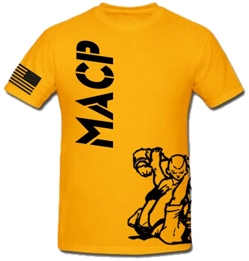 Gold and Black Fight Shirt