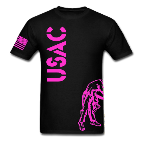 Black and Pink USAC Knee Fight Shirt