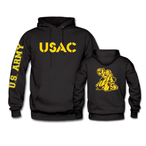 USAC Fighter Hoodie wth Gold Print