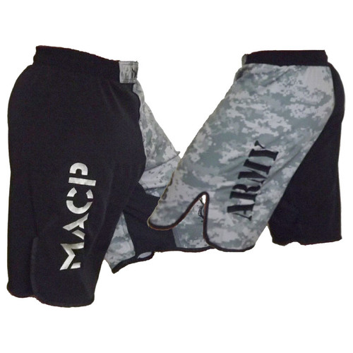 MACP Black and ACU Two Tone Fight Shorts