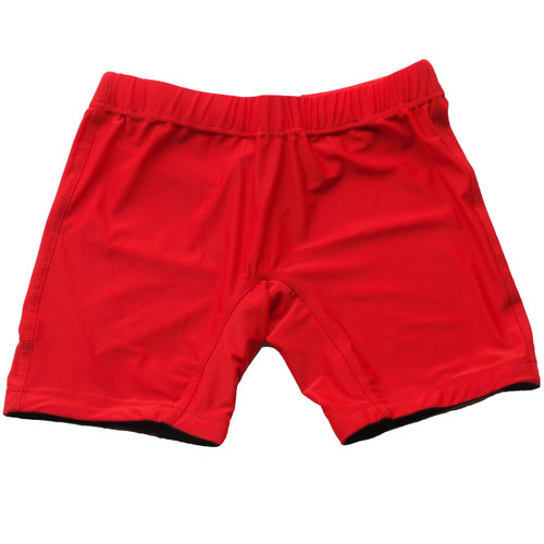 Solid Red Vale Tudo Female MMA Shorts