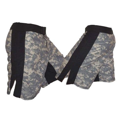 ACU MMA Fight Shorts with Black Stripe