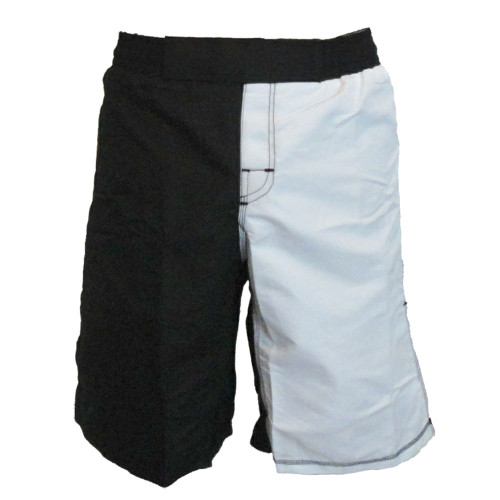 Black and White Blank Two Toned MMA Shorts