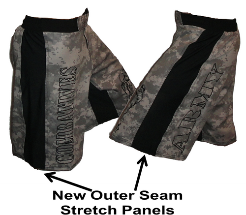 ACU with Black Stripe Army Combatives Fight Shorts