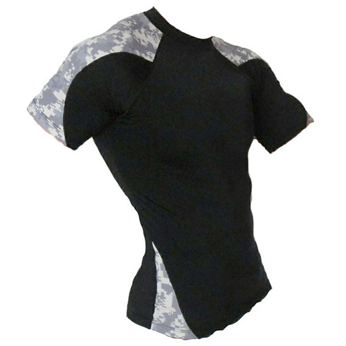 Black and ACU Rash Guard Short Sleeve