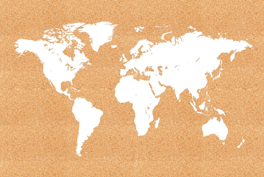 World map cork board jefferson st designs world map cork board gumiabroncs Image collections