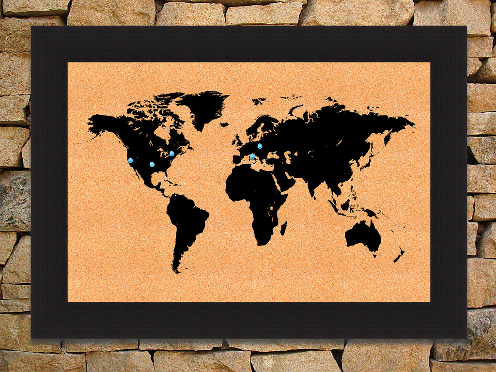 World map cork board jefferson st designs world map cork board gumiabroncs Choice Image