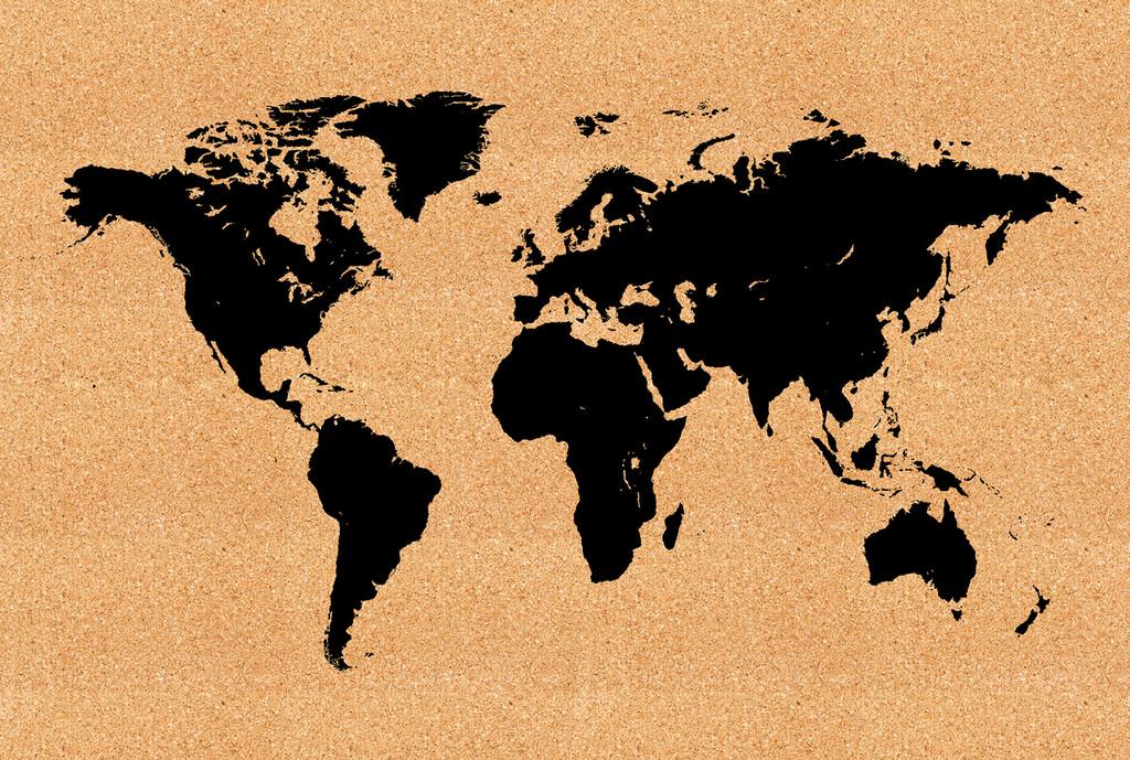 World map cork board jefferson st designs world map cork board gumiabroncs Choice Image