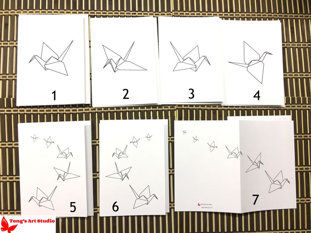 Coloring crane greeting card 7 coloring crane greeting card m0 5 x 7 cards with envelopes m4hsunfo