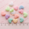 Chunky Pastel Heart Beads (13mm x 11mm)