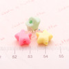 Pastel Colored Chunky Stars Beads (11mm)  - 121 pieces approx.