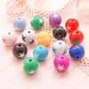 Chunky Cute Star Colourful Beads  - 10 pieces