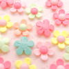 Daisy Flower Plastic Beads (28mm) - 10 pieces