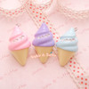 Chunky Pastel Bling Ice Cream Charm - 3 pieces