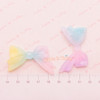 Glittery Rainbow Gradient Ribbon Cabochon - 4 pieces