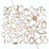 Royal Heart Frame Open Bezel Gold Charm - 3 pieces