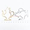 Teapot Open Bezel Charm - 3 pieces