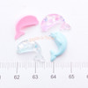 Pastel Colours Dolphin Resin Cabochon - 12 pieces