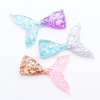 Glitter Flakes Mermaid Tail Resin Cabochon - 6 pieces