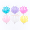 Glitter Seashell Charm or Cabochon - 6 pieces