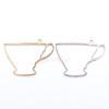 Teacup Open Bezel Metal Charm - 4 pieces