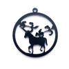 Unicorn Forest Black Bezel Acrylic Charm - 2 pieces