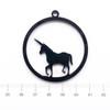 Unicorn Black Bezel Acrylic Charm - 2 pieces