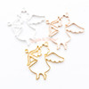 Angel Cupid Bow Open Bezel Metal Charm - 6 pieces