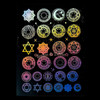 Holographic Magic Circles Design Film (for UV Resin)