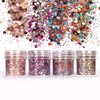 Christmas Magenta Colours Glitter Set (4 pieces)