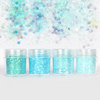 Frozen Blue Shade Colours Iridescent Glitter Set (4 pieces)