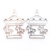 Theme Park Carousel Unicorn Open Bezel Charm (3 pieces)