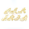 Princess Shoes Theme Open Bezel Set (7 pieces)