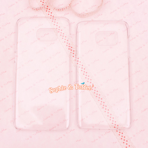 Samsung S7 or S7 Edge Clear Hard Case - 2 pieces