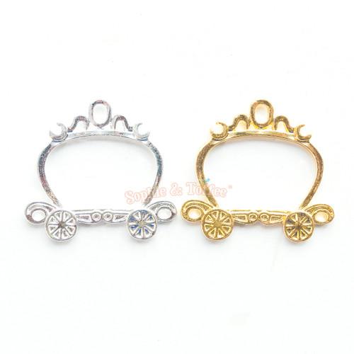 Princess Carriage Open Bezel Charm (4 pieces)
