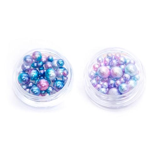 Textured Gradient Mermaid Pastel Beads (No Hole) - 2 sets
