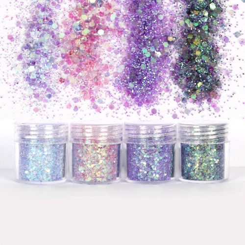 Lilac Violet Shade Colours Glitter Set (4 pieces)