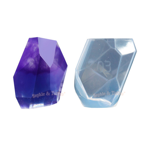 Large Faceted Crystal Silicone Mold